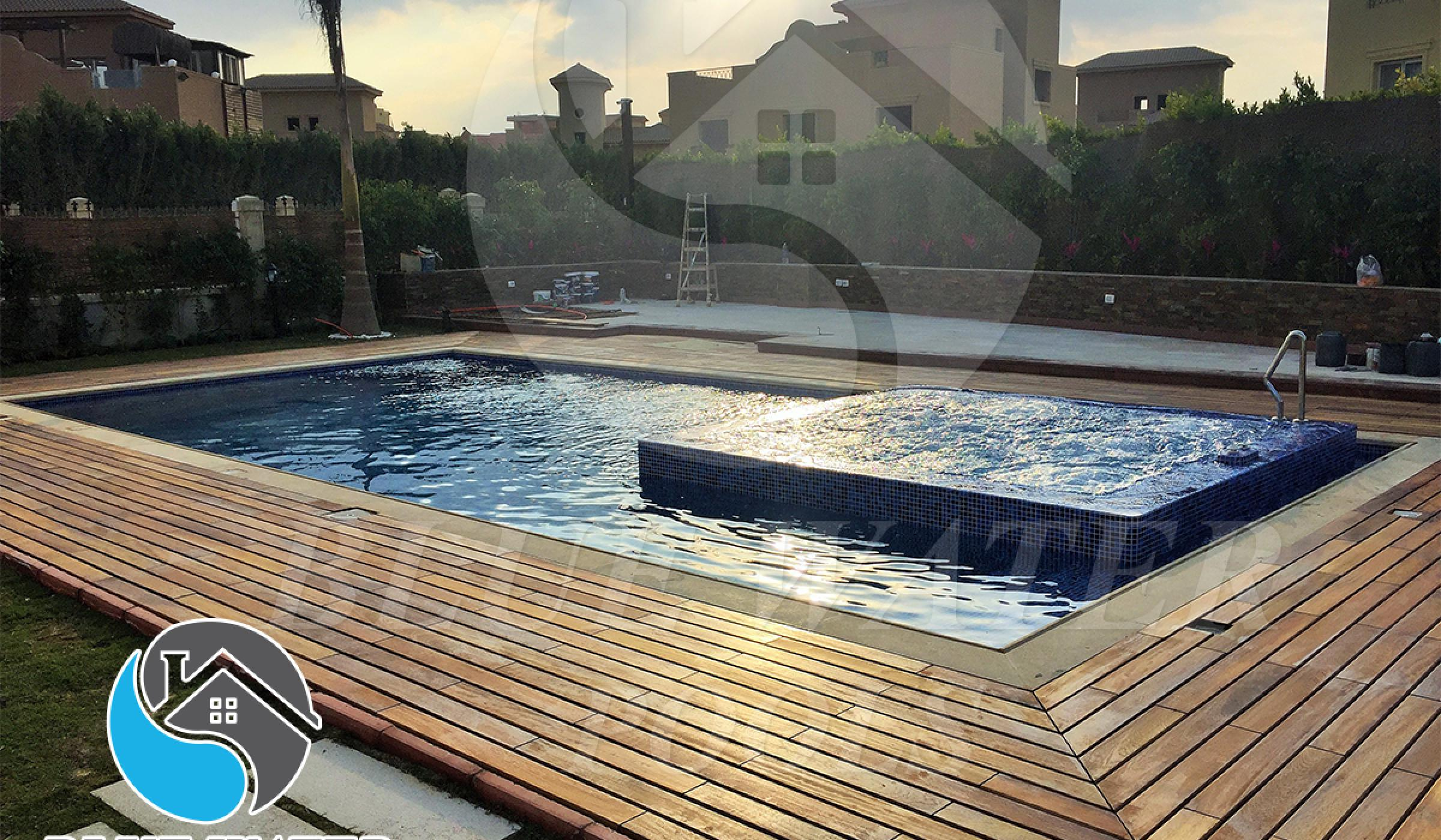 Skimmer swimming pool - Overflow Jacuzzi